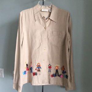 LEMON GRASS  QUIRKY BUTTON DOWN SHIRT